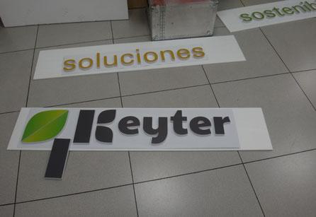 letras logo en PVC impreso pintado