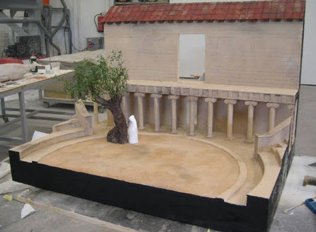 Maqueta de Teatro Griego, en su origen