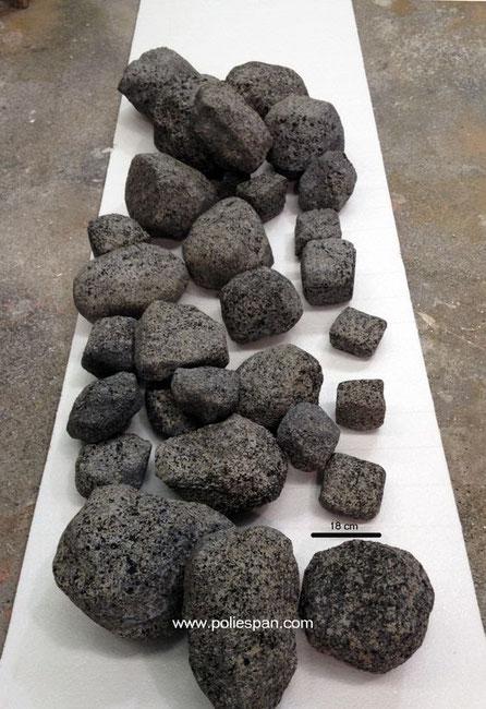 Rocas ligeras, para decoración