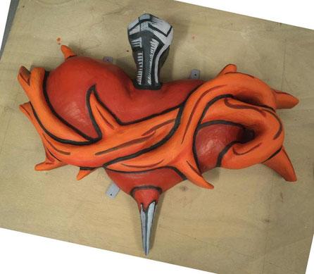 Corazón Espinado, medio volumen para decoración de una tienda