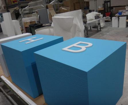 Cubos de Letras para escenario