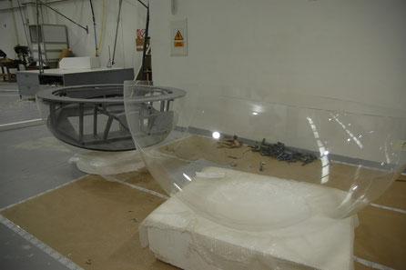 hemisferas en cristal acrílico desde 20 cm hasta 180 cm de Diámetro