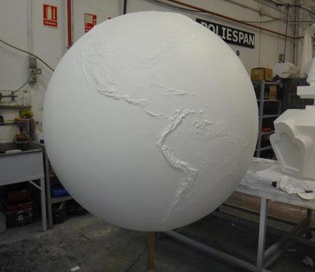 Esfera Munial , en relieve topográfico