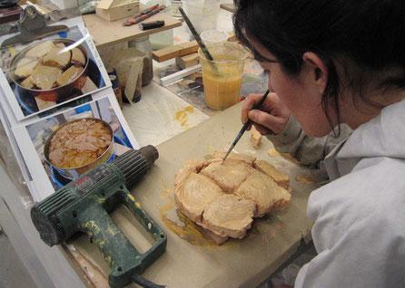 Ficticio de Carne de Atún, proceso en taller