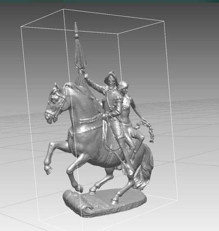 Modelo para Monumento (Conquistador y Princesa India)
