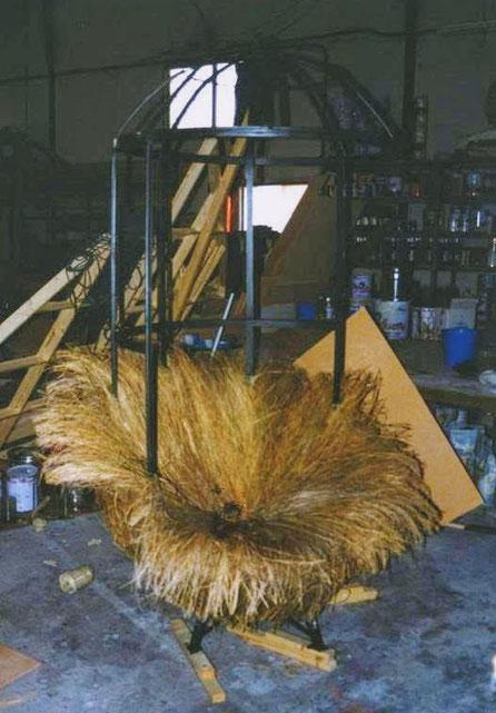 Jaula Colgante (nido) para escenario, teatro. Para Centro Dramático Nacional (Pelo de Tormenta).