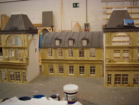 Maquetas Ciudad de Paris, Spot, en taller