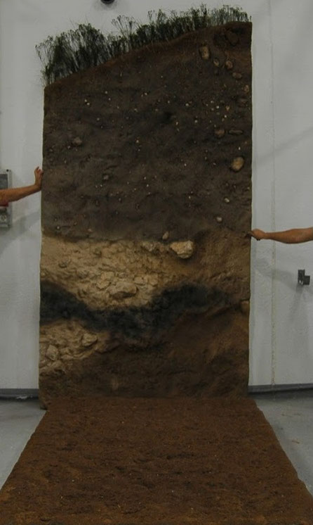 Modelo de una estratigrafía, para Esposición