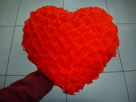 Corazón Superficie de Pétalos