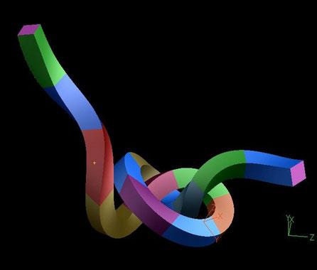Diseño 3D de Nudo para Alberto Cavalieri
