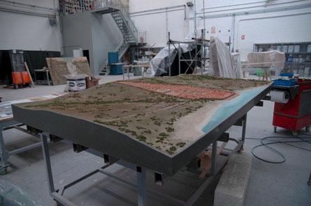 Maqueta de la ciudad y el Puerto de Baelo Claudia, Reconstrucción Hipotética