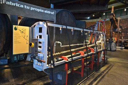 Maquina de la Sidra >Recreación del Proceso de elaboración de la Sidra, Museo de la Sidra Nava