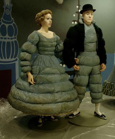Figuras de Balilarines del Ballet de Diaghelev, Museo de Arte de Mónaco