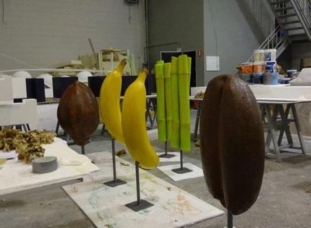 Cacao, Platano, Caña de Azucar, Café - Gigantes para decoración