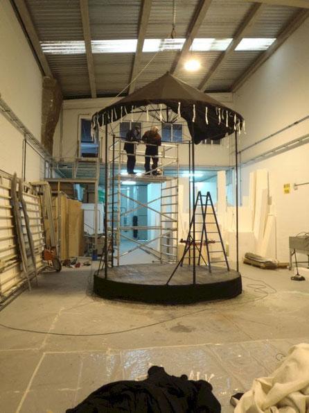 Construcción de un Teatrillo para pequeñas representaciones en Stand de Castilla la Mancha, Fitur