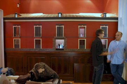 Maqueta Museo del Romanticismo, con proyección de teatrillo virtual
