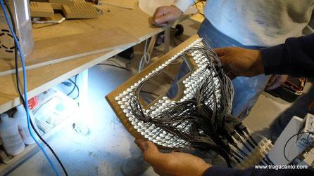 Instalación de diodos de iluminacion en el módulo