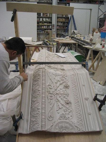 Construcción de un Palco, para vitrina en Museo del Traje