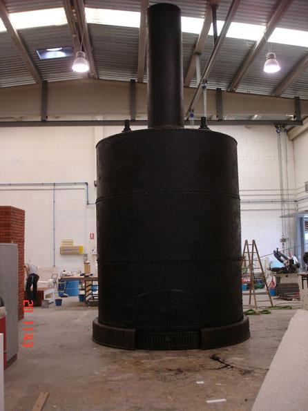 Caldera Gigante, ficiticio de maquina de Vapor de Watt, para Museo.