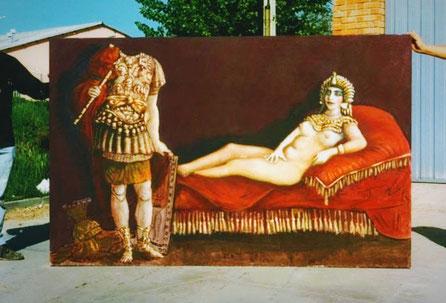 Backdrop, Teloncillo, Forillo para publicidad, pintado a mano