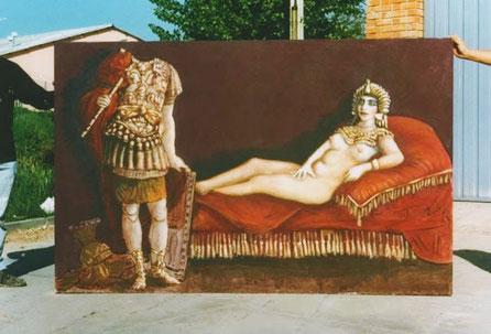 Pon tu cabeza de emperador > Fondo Ferma  para Photocall, pintado a mano