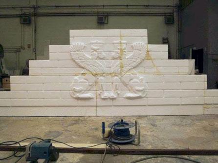 Escalera Podium con relieve, para teatro
