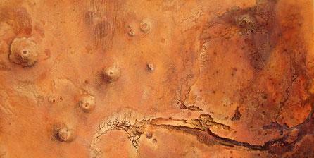 Relieve Marte, proyección cilíndrica