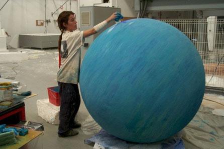 Planeta Gaseoso, Modelo de 140 cm de diametro