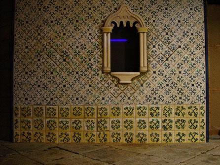 Pard de Bastidor, decorado a mano, escenografía en centro de interpretación del Caballero de Olmedo