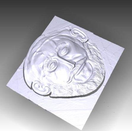 Máscara de Agamenón, relieve 3D