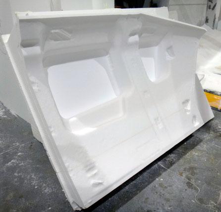 panel interior para formar un modelo a tamaño real de un helicoptero