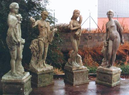 Estatuas de Jardin, talladas en poliespan, imitación piedra, para cine