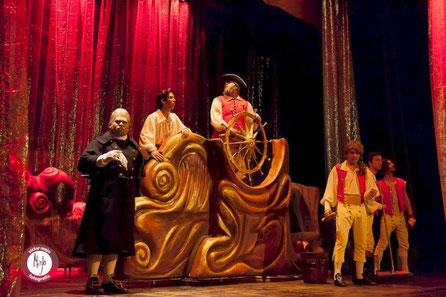 Carras de Barco Escenográfico, Musical La Sirenita