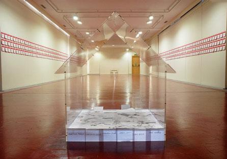Casa, metacrilato ensamblado, para la artista Ana Marcía