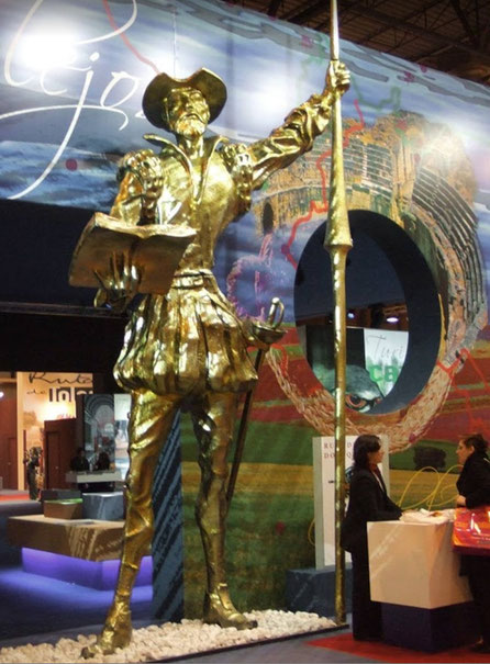 Don Quijote, Gigante, 5 metros de altura, Stand en Fitur