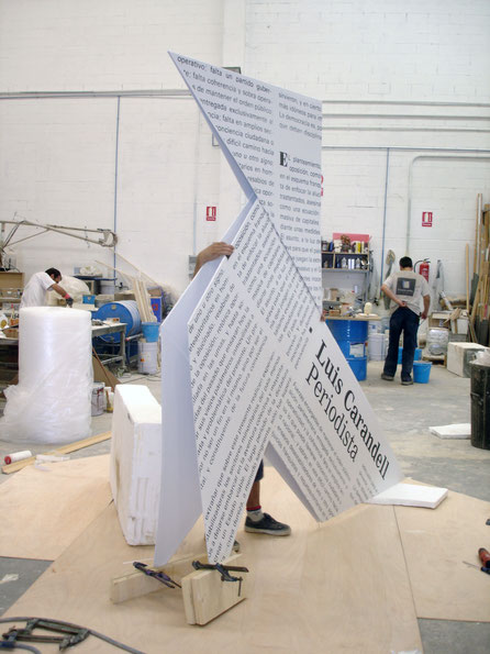 Pajarita Gigante, exposición sobre Carandell, librería Blanquerma