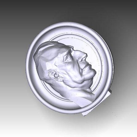 Medallón para Fachada, 3D