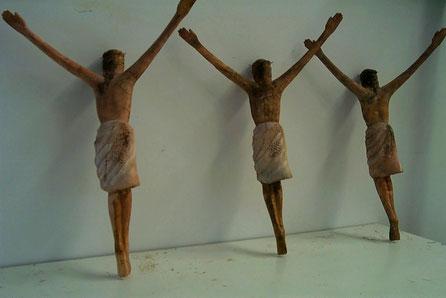 Cristos, para Crucifijo efectos especiales en rodaje de cine (La Promesa)