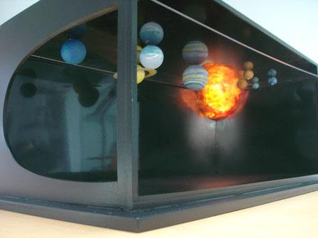 Maqueta de Trabajo, para realizar un sistema solar expositivo grande.