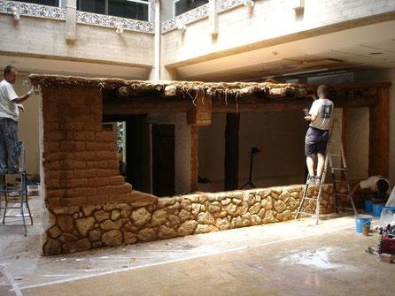 Construcción de una cabaña íbera. Muel