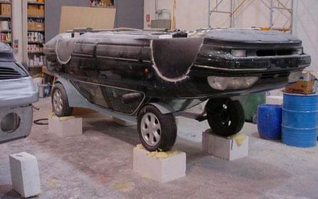 Preparación de coche para Spot (coches que circulan al revés)