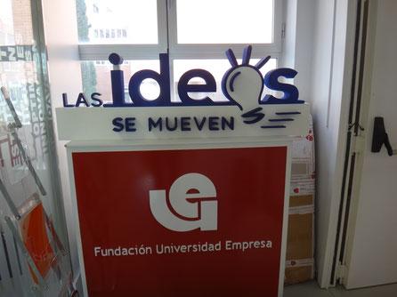 Letras de escenario, para Conferencia en la Fundación Universidad Empresa.