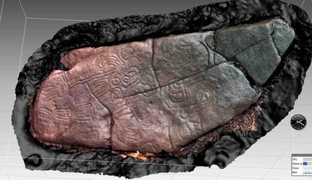 Modelo 3D Petroglifos de Pozo Ventura, Poio