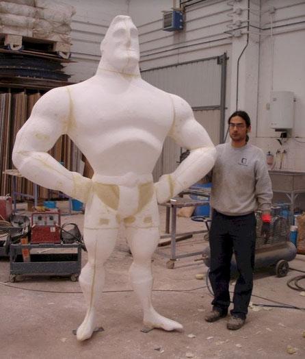 Figura Gigante de Cómic, para Carroza de Reyes