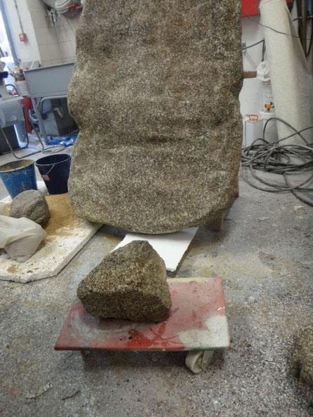 Roca de granito, ficticio