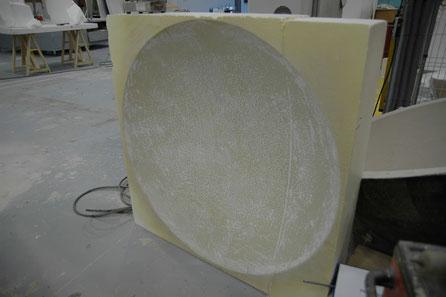Molde para fabricar un casquete esférico