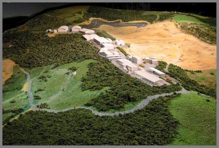 Maqueta de las instalaciones de Cogersa, Asturias (Gestión de los Residuos Solidos)