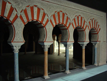 Maqueta (para teatrillo virtual) Medina Azahara, Salón de los Reyes