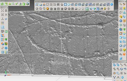 Scan3D de un detalle de petroglifo, Foz Coa