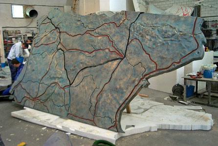 "Mapa para exposición ""Las Médulas"""